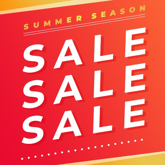 SUMMER SEASON SALE SALE SALE!