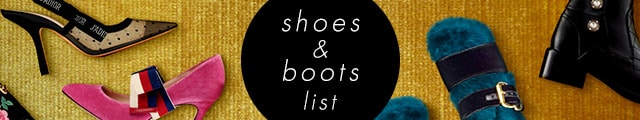 shoes & boots list