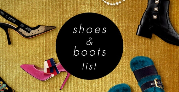 shoes boots list